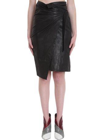 Isabel Marant Étoile Ayeni Skirt In Black Leather