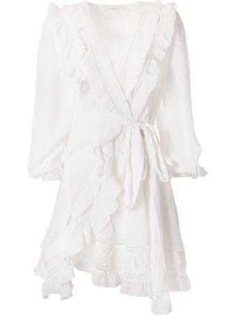 Zimmermann Ruffle Wrap Dress