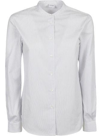 Aspesi Band Collar Striped Shirt