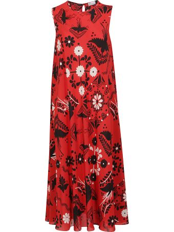 RED Valentino Bird Print Midi Dress