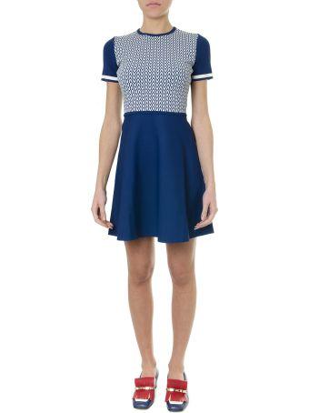 Valentino Optical Blue Viscose Dress