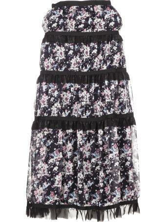 Giuseppe di Morabito Tiered Floral Skirt