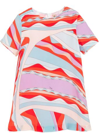 Emilio Pucci Fantasy Girl Red Dress Emilio Pucci Kids