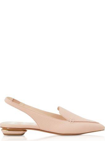 Nicholas Kirkwood Powder Pink Grainy Leather 18mm Beya Slingback