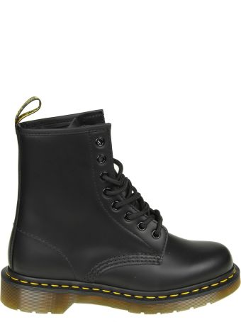 Dr. Martens Black Leather Anfibio