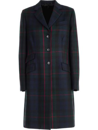 Paul Smith Plaid Single-breasted Coat