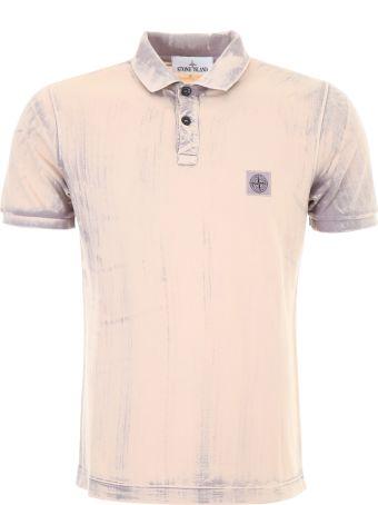 Stone Island Tie And Dye Polo Shirt