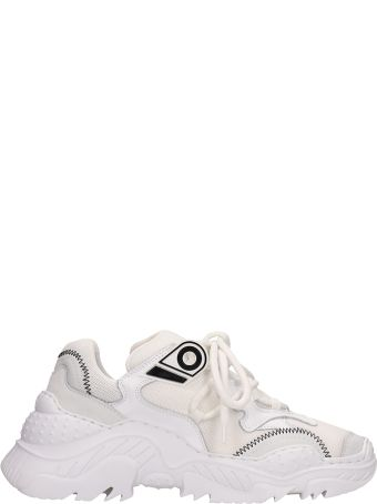N.21 White Technical Fabric Billy Sneakers