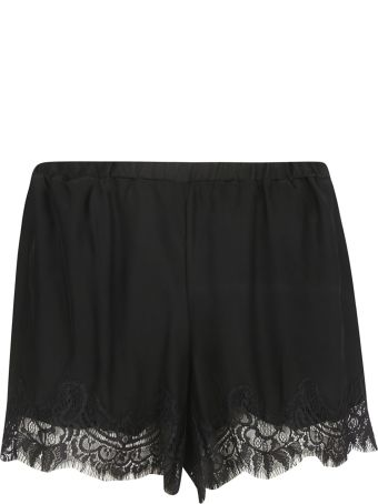 Gold Hawk Lace Hem Shorts