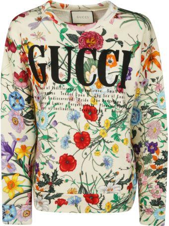 Gucci Floral Print Sweatshirt