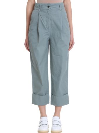 Acne Studios Phaedra Cotton And Linen Trousers