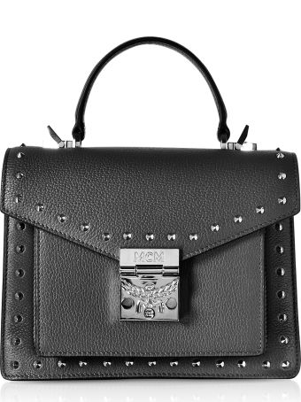 MCM Small Patricia Studded Park Avenue Satchel Bag