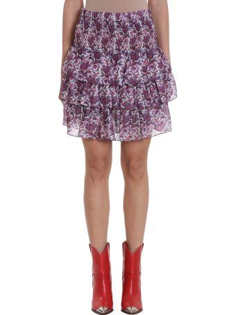 Isabel Marant Nukia Ruffles Silk Skirt