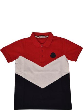 Moncler Kids Tricolor Polo Shirt