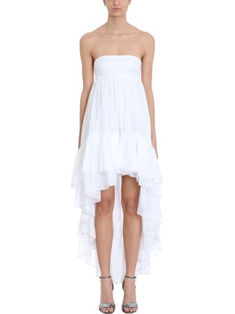 Alexandre Vauthier Asymmetric White Cotton Dress