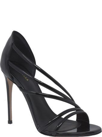 Le Silla Black Patent Scarlet 100 Sandals