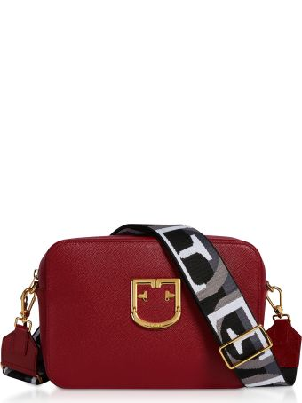 Furla Cherry Red Brava S Crossbody Bag