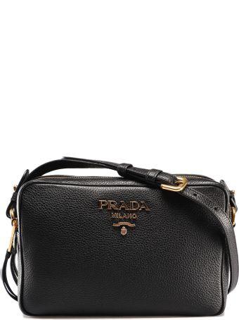 dd1a03969dcb Prada Logo Plaque Shoulder Bag