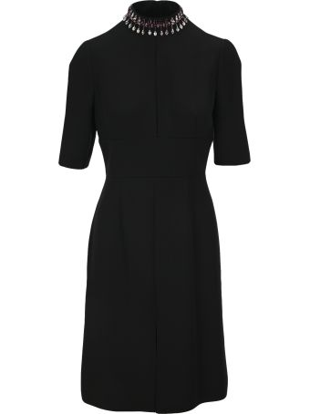 Prada Fitted Embroidered Dress