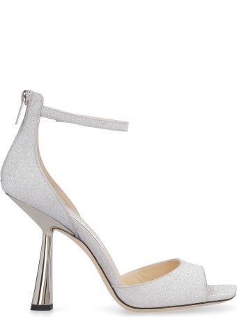 Jimmy Choo Reon 100 Glitter Ankle-strap Sandals