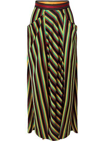 3.1 Phillip Lim Striped Satin Maxi Skirt