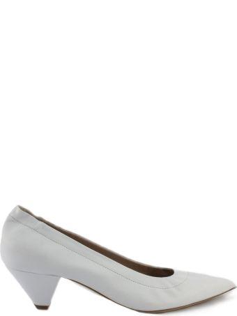 Aldo Castagna White Leather Elise Pumps