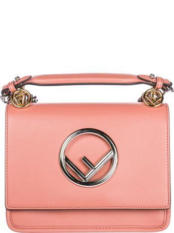 Fendi  Leather Shoulder Bag Kan I Piccola Logo