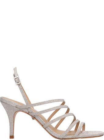 Schutz Silver Glitter Sandals