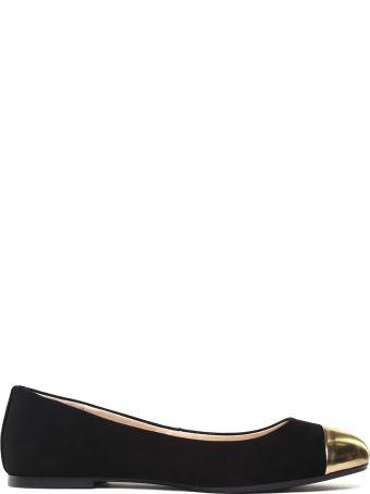 Anna Baiguera Annina Flex Mirrored-leather And Suede Ballet Flats