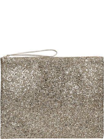 Anniel Big Clutch Gold Glitter Pochette