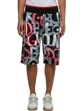 Dolce & Gabbana Text Print Shorts