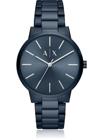 Emporio Armani Cayde Blue Minimalist Men's Watch