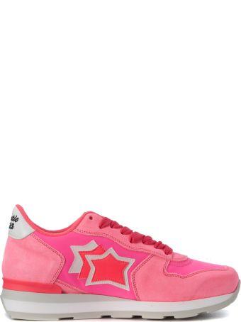 Atlantic Stars Vega Fuchsia Fabric And Leather Sneaker