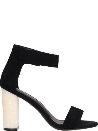 Jeffrey Campbell Black Suede Lindsay Sandals