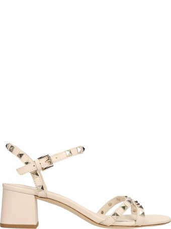 Ash Iggy Ivory Leather Sandals