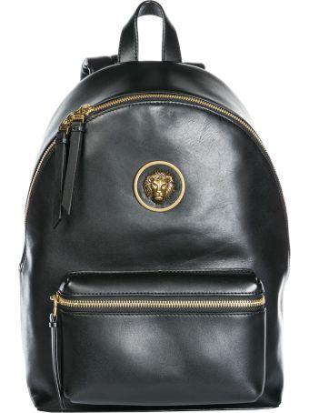 Versus Versace  Leather Rucksack Backpack Travel Lion Head