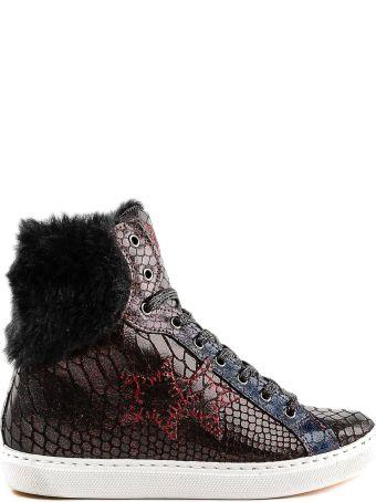 2Star 2 Star Faux Fur Trim Hi-top Sneakers