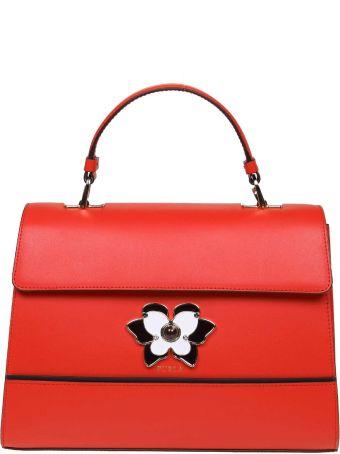 Furla Hand Bag Mughetto M Di Pelle Color Red