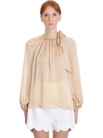 Zimmermann Blouse In Beige Silk