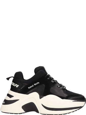 Naked Wolfe Track Sneakers Black Leather And Suede