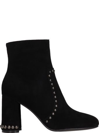 Lola Cruz Black Suede Ankle Boot