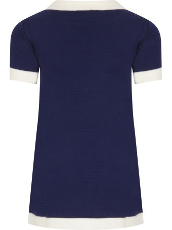 Gucci Blue Dress For Girl With Double Gg