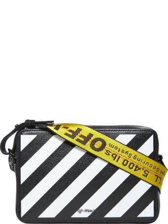 Off-White Diagonal Stripe Shoulder Bag