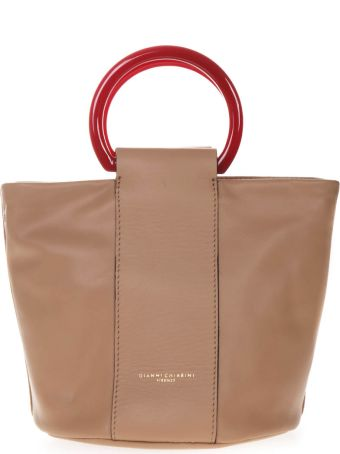 Gianni Chiarini Cuir Leather Buckett Bag