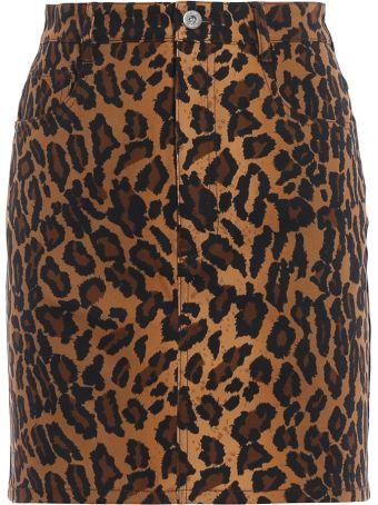 Miu Miu Leopard Mini Skirt