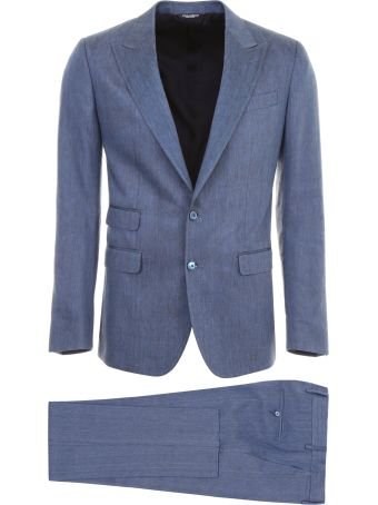 Dolce & Gabbana Linen And Silk Two-piece Suit