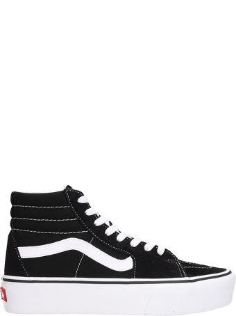 Vans Sk8 Hi 38dx Platform Grey Black Suede And Fabric Sneakers