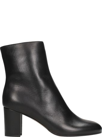 L'Autre Chose Black Calf Leather Ankle Boots