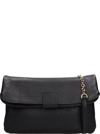 L'Autre Chose Black Leather Tote Bag