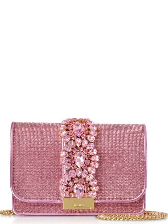 Gedebe Cliky Light Rose Crystals Clutch